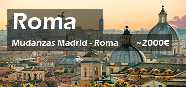 mudanzas madrid roma